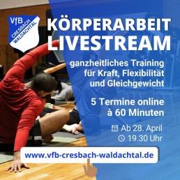 Körperarubeit Kurs online 28. April